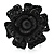 Sultry Crystal Rose Cocktail Ring (Black Tone) - view 2