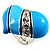 Light Blue Enamel Diamante Asymmetrical Heart Ring (Silver Tone) - view 6