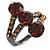 Amber Coloured CZ Trinity Ring (Black Tone)