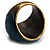 Crystal Floral Teal Coloured Enamel Shield Ring (Bronze Tone) - view 7