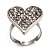 Romantic Crystal Heart Ring (Silver & Clear) - view 6