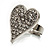 Romantic Crystal Heart Ring (Silver & Clear) - view 7