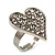 Romantic Crystal Heart Ring (Silver & Clear) - view 8