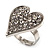 Romantic Crystal Heart Ring (Silver & Clear) - view 9