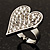Romantic Crystal Heart Ring (Silver & Clear) - view 5