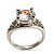 Silver Plated Clear CZ Solitaire Ring - view 5