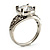Silver Plated Clear CZ Solitaire Ring - view 6
