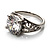 Silver Plated Clear CZ Solitaire Ring - view 2