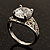 Silver Plated Clear CZ Solitaire Ring - view 3