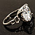 Clear Crystal CZ Rock Solitaire Ring (Silver Tone) - view 8
