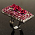Square Crystal Rose Cocktail Ring (Silver Tone) - view 12