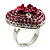 Heart Crystal Rose Cocktail Ring (Silver Tone) - view 5