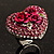 Heart Crystal Rose Cocktail Ring (Silver Tone) - view 9