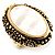 Antique Gold Shell Crystal Chunky Ring - view 4