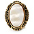 Antique Gold Shell Crystal Chunky Ring - view 2