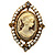 Vintage Filigree Simulated Pearl Cameo Ring (Gold Tone) - view 4