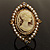 Vintage Filigree Simulated Pearl Cameo Ring (Gold Tone) - view 3