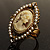 Vintage Filigree Simulated Pearl Cameo Ring (Gold Tone) - view 7