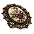 Vintage Floral Crystal Cameo Ring (Bronze Tone) - view 7
