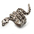 Silver Tone Swarovski Crystal Snake Ring - view 3