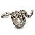 Silver Tone Swarovski Crystal Snake Ring - view 4