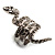 Silver Tone Swarovski Crystal Snake Ring - view 5