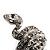 Silver Tone Swarovski Crystal Snake Ring - view 6
