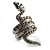 Silver Tone Swarovski Crystal Snake Ring - view 7
