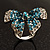 Silver-Tone Crystal Bow Ring (Teal, Sky Blue & Clear) - view 9