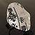 Vintage Hieroglyph Hammered Plate Ring (Burn Silver Tone)