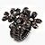 Black Crystal Floral Stretch Ring - view 8