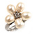Tiny White Freshwater Pearl Flower Ring (Silver Tone) - view 5