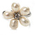 Tiny White Freshwater Pearl Flower Ring (Silver Tone) - view 6