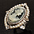 Vintage Filigree Simulated Pearl Cameo Ring (Silver Tone) - view 4