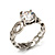 Clear Crystal CZ Solitaire Ring (Silver Tone) - Size 7 - view 2