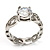 Clear Crystal CZ Solitaire Ring (Silver Tone) - Size 7 - view 4