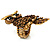 Charming Diamante Antique Gold Owl Stretch Ring - view 7