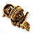 Charming Diamante Antique Gold Owl Stretch Ring - view 10