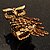 Charming Diamante Antique Gold Owl Stretch Ring - view 5