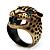 Vintage Bronze Tone 'Tiger' Ring - view 8