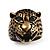 Vintage Bronze Tone 'Tiger' Ring - view 2