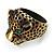 Vintage Bronze Tone 'Tiger' Ring - view 9