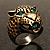 Vintage Bronze Tone 'Tiger' Ring - view 3