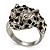 Diamante 'Leopard' Rhodium Plated Ring