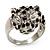 Diamante 'Leopard' Rhodium Plated Ring - view 6