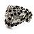 Diamante 'Leopard' Rhodium Plated Ring - view 4