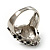 Diamante 'Leopard' Rhodium Plated Ring - view 10