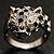 Diamante 'Leopard' Rhodium Plated Ring - view 2