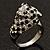Diamante 'Leopard' Rhodium Plated Ring - view 5