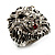 Statement Rhodium Plated Crystal 'Lion' Ring - view 10